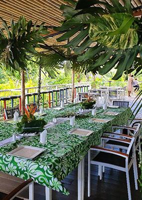 Auberge De Gaulle - Voh Caledonie - Table de réception